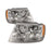 1999-2004 Grand Cherokee Chrome Smoked Headlights Set (Bulbs Not Included) Headlamp Pair Assembly New