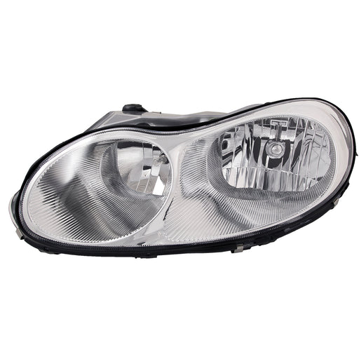 Headlight Halogen Chrome Left Driver Fits 1998-2001 Chrysler Concorde and 1999-2000 LHS