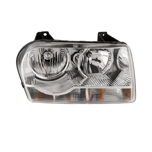 Headlight Right Passenger Fits 2005-2009 Chrysler 300 V6 Straight Bottom