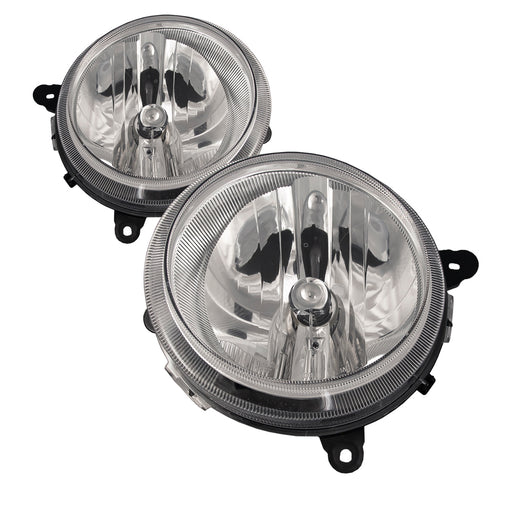2007-2011 Jeep Compass / 2007-2017 Patriot Headlights Halogen Set (09-16 w/o Leveling) Driver Left Passenger Right Headlamps Pair Assembly. Jeep Compas 07-09/Patriot 07-08
