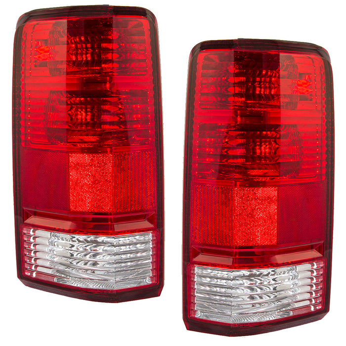 Tail Lights Set Driver Left Right Passenger Pair Assembly Fits 2007-2011 Dodge Nitro