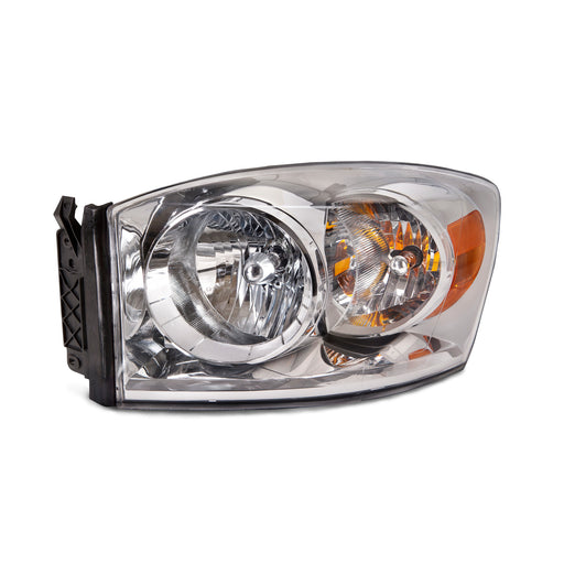 2007-2008 Dodge Ram 1500/2007-2009 Ram 2500-3500 Driver Side Chrome Headlight