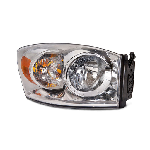 2007-2008 Dodge Ram 1500/2007-2009 Ram 2500-3500 Passenger Side Chrome Headlight