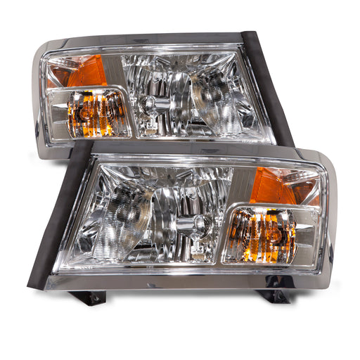 2008-2011 Dodge Dakota New Chrome Halogen Headlights Set
