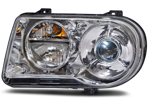 Headlight HID Driver Side Left w/o Bulb and Ballast Assembly Fits 2005-2010 Chrysler 300 V8 (05:6.1L Eng) (05-06:5.7L Eng: W/O H/Lamp Leveling)
