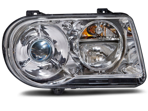 Headlight HID Passenger Side Right w/o Bulb and Ballast Assembly Fits 2005-2010 Chrysler 300 V8. (05:6.1L Eng) (05-06:5.7L Eng: W/O H/Lamp Leveling)