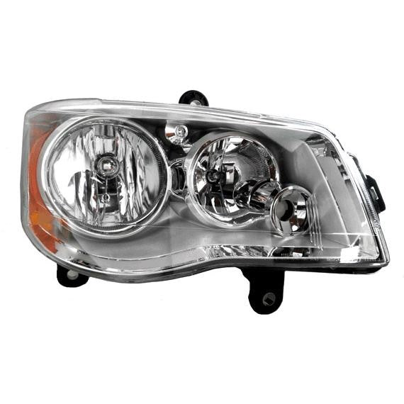 Headlights HID (w/o Bulbs or Ballast) Right Passenger Fits 2008-2012 Chrysler Town & Country