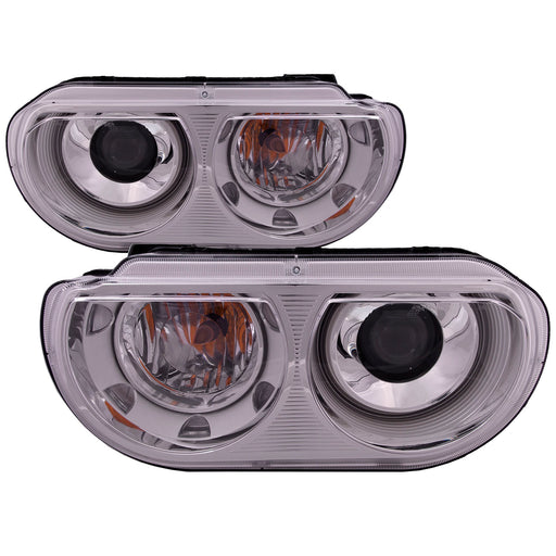 2008-2014 Dodge Challenger HID Headlights Set w/o Bulbs or Ballasts Driver Left Passenger Right Pair Assembly