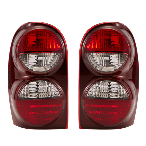 2005-2007 Jeep Liberty Rear Tail Lights Set Driver Left Passenger Right Pair Assembly