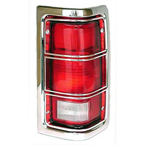 81-87 Dodge D100 D150 D250 D350 D400 D450 W100 W150 W250 W350 Right Passenger Side Tail Light Lens With Chrome Trim