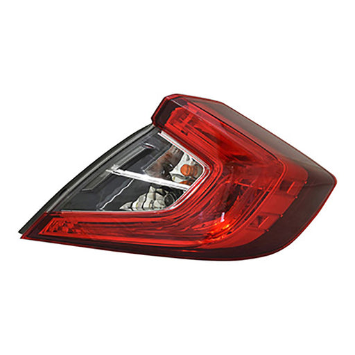 16-18 Honda Civic Sedan Right Passenger Side Outer Tail Light NSF Certified