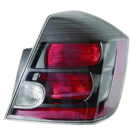 10-12 Nissan Sentra Right Passenger Side Tail Light With Dark Bezel