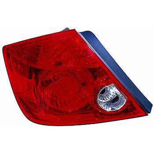 05-07 Scion tC Left Driver Side Tail Light With Red Lens And Clear With Red Lens And Clear