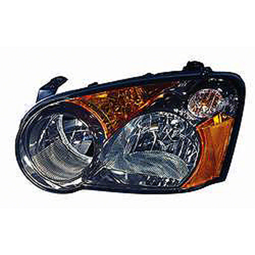 2004-2005 Subaru Impreza WRX TS RS Outback STI Left Driver Side Headlight Black