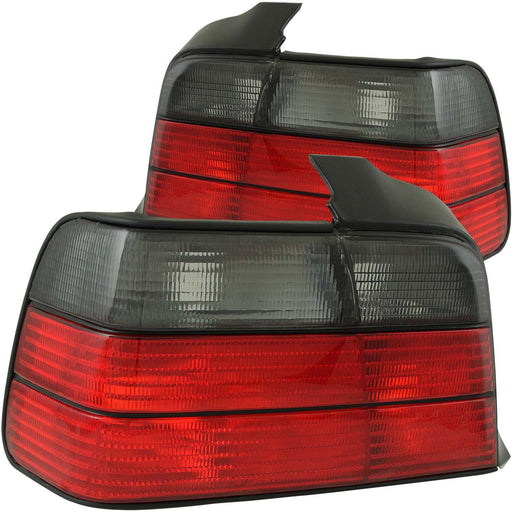 Halogen Tail Light Compatible with BMW 318i 320i 325i 328i M3 1992-1998 Includes Left Driver and Right Passenger Side Tail Lights