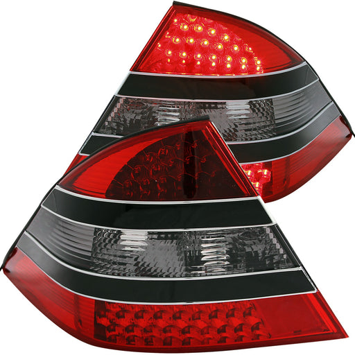 Tail Light Compatible with Mercedes-Benz S320 S420 S500 S600 1997-1999 S-Class Includes Left Driver and Right Passenger Side Tail Lights with Red and Smoke Lens