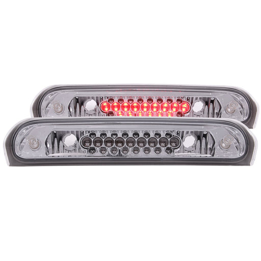 Chrome Housing LED Brake Light Compatible with Dodge Ram 1500 2500 3500 2002-2009 Includes High Mount Stop 3rd Brake Light