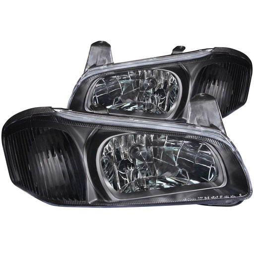 Black Housing Halogen Headlights Compatible with Nissan Maxima 2000-2001 Includes Left Driver and Right Passenger Side Headlamps