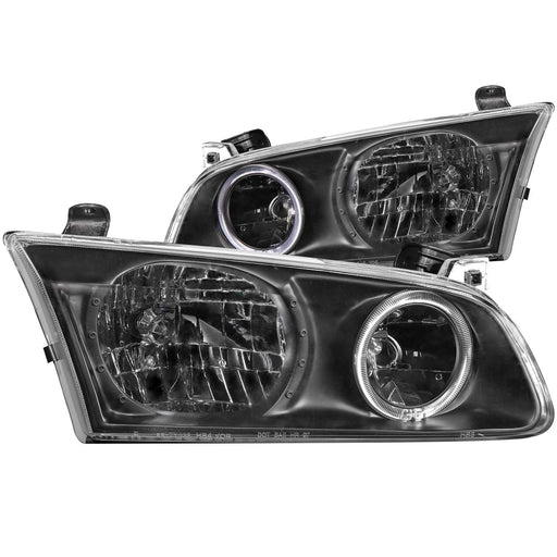 Black Housing Halogen Headlights Compatible with null Toyota null Camry null-2001 Includes Left Driver and Right Passenger Side Headlamps