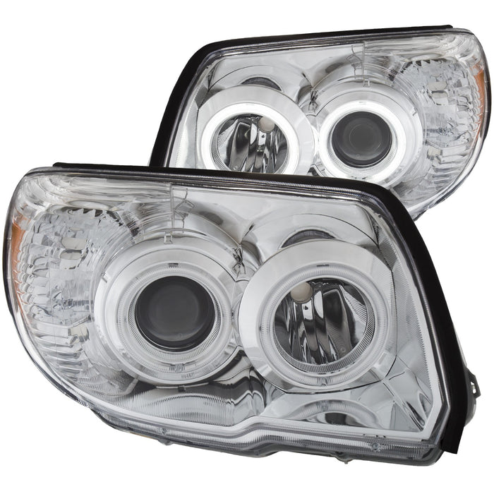 Chrome Housing Halogen Headlights Compatible with Toyota 4Runner 2006-2009 Includes Left Driver and Right Passenger Side Headlamps