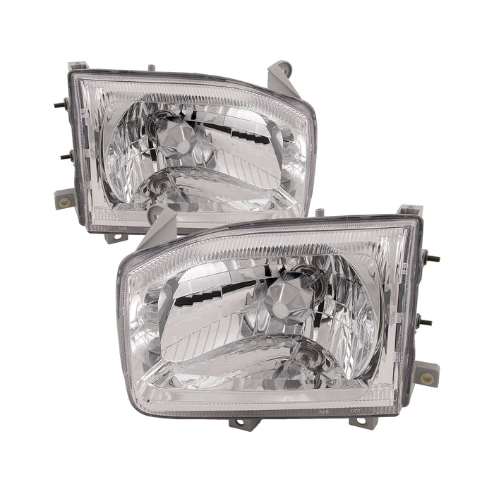 1999-2004 Nissan Pathfinder Headlights Left Driver Right Passenger Set Headlamps Pair Assembly