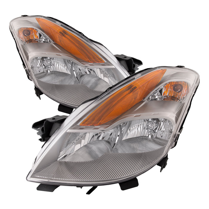 Headlights Set Halogen Left Right Pair Fits 2008-2009 Altima (Only 2-Door Coupe w/o HID Option)