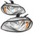 Headlights Set LED High/Low Beam Left Driver Right Passenger Pair Fits 2002-2014 Freightliner M2