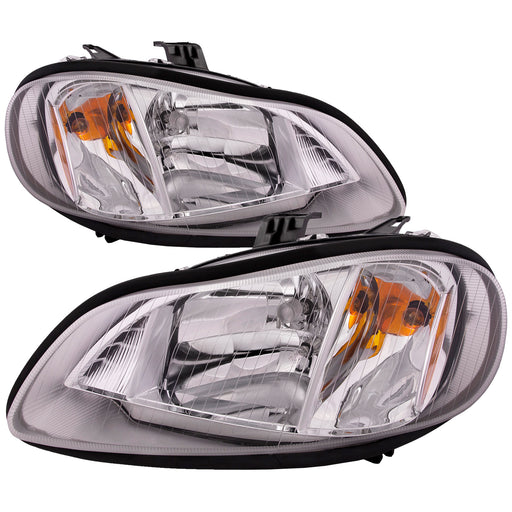 Headlights Set Halogen Driver Left Right Passenger Pair Fits 2002-2014 Columbia Freightliner M2