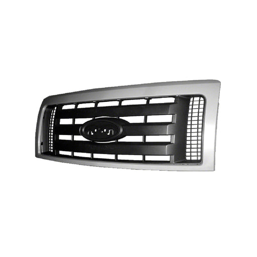 Front Grille Paint To Match Frame w/3 Textured Horizontal Bars For 2009-2013 Ford F-150/ 2009-2012 STX Models/ 2009-2010 Fx4 Models