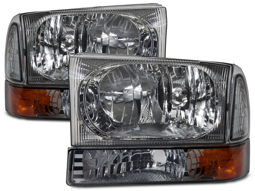 PERDE 1999-2004 Ford SuperDuty/2000-2004 Excursion w/Performance Lens 4-Piece Headlights Set