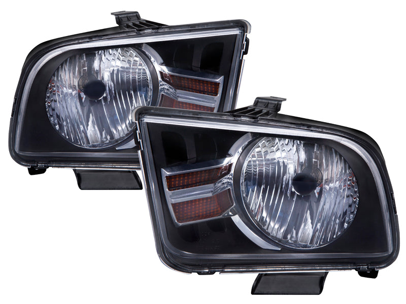 PERDE Headlights Set (2012 Style) Driver Left Passenger Right Pair Fits 2005-2009 Ford Mustang