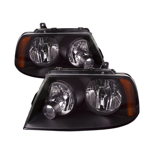 PERDE 2003-2006 Lincoln Navigator Headlight Set Pair With Black Housing Headlamp Assembly