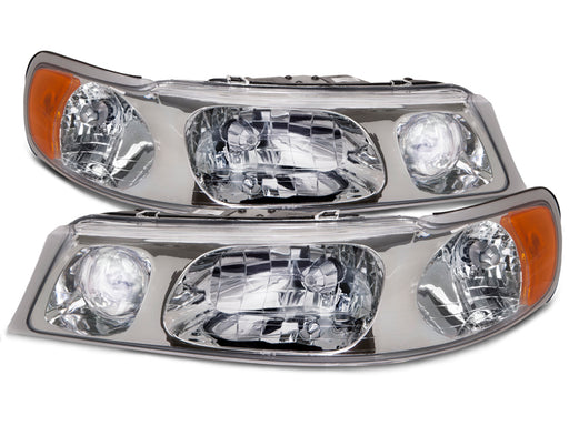 Headlights Chrome Halogen w/Xenon Driver Left Fits 1998-2002 Lincoln Town Car