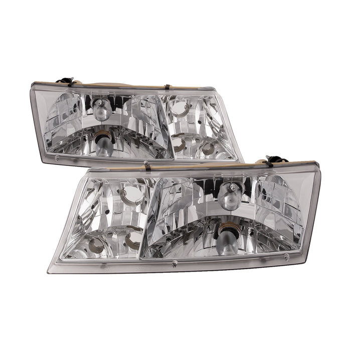 1998-2002 Mercury Grand Marquis Headlights Set Pair