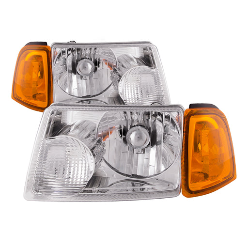 2001-2011 Ford Ranger Chrome 4-Piece Headlights Set