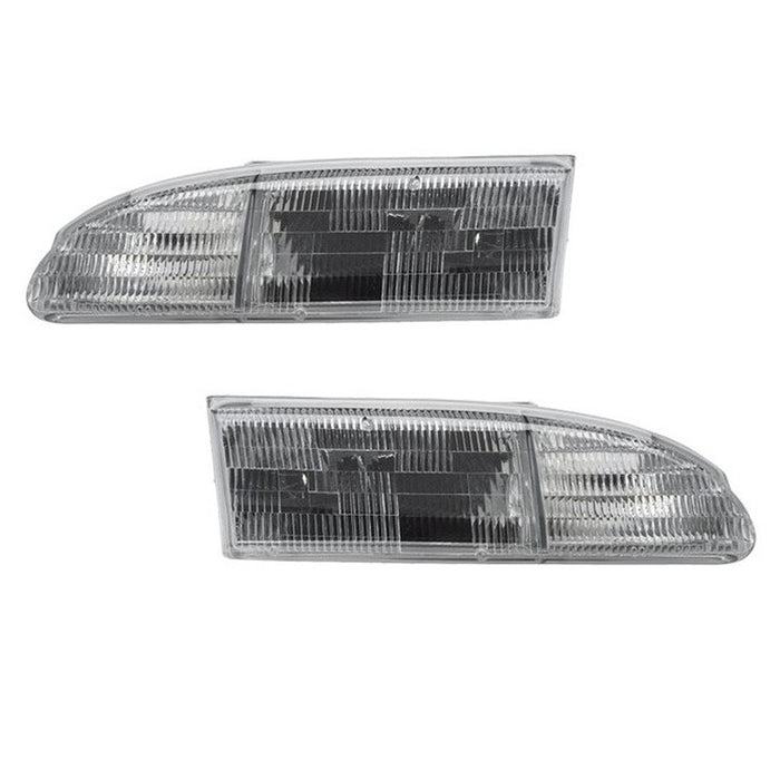 1994-1995 Ford Thunderbird New Headlights Set (w/o bulbs)