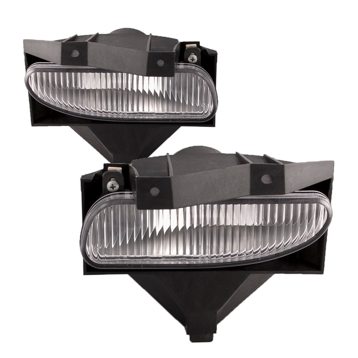 Fog Lights Set Rectangle Left Driver Passenger Right Pair Assembly Fits 1999-2004 Ford Mustang Base/GT/Mach1