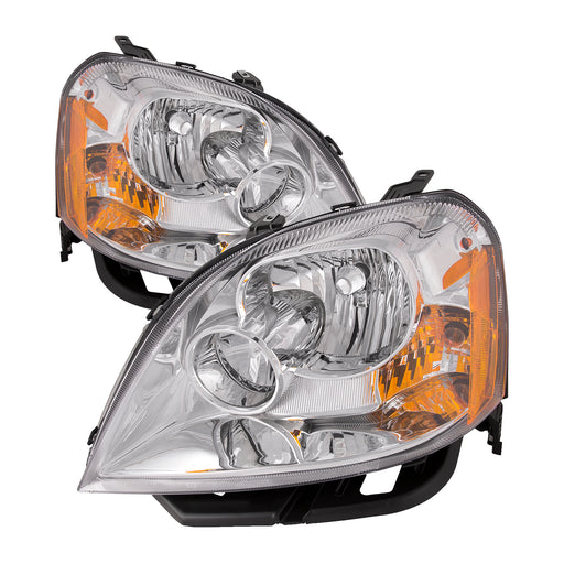 Headlights Chrome Halogen Pair Set Fits 2005-2007 Ford Five Hundred 500