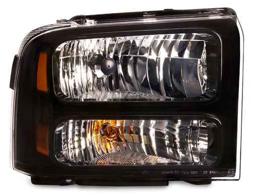 Headlight Black Housing Left Driver Assembly Fits 2005-2007 F-250 F-350 F-450  SuperDuty Pickup Truck