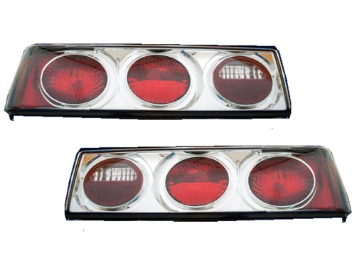 1987-1993 Ford Mustang Chrome Euro Taillights Set New