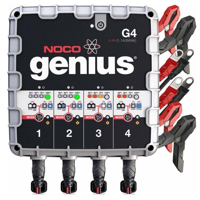 NOCO G4 4.4A 4-Bank Smart UltraSafe Battery Charger and Maintainer Car Truck Boat ATV