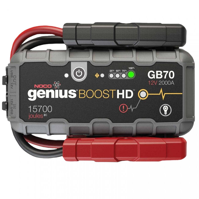 NOCO GB70 HD 2000 Amp UltraSafe Lithium Portable Jump Starter Charger Car Truck Boat ATV