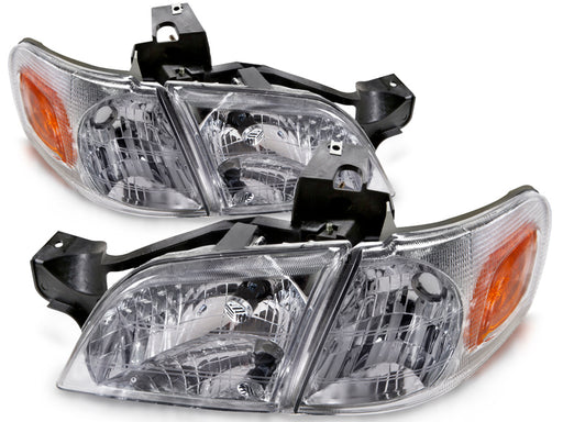 1997-2005 Venture/Montana/TransSport/Silhouette Headlights Set w/Xenons Headlamp Assembly Pair New