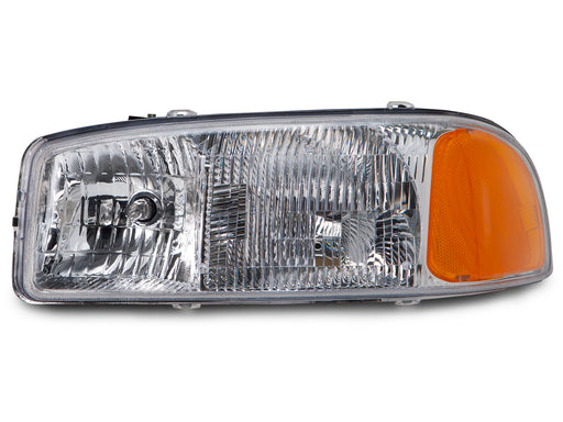 Headlight Left Driver Side Assembly Fits 1999-2006 GMC Sierra / 2000-2006 Yukon (Does Not Fit C3 or Denali)
