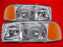 1999-2006 GMC Sierra/2000-2006 Yukon New Headlights Set Driver Left Passenger Right Headlamps Pair Assembly