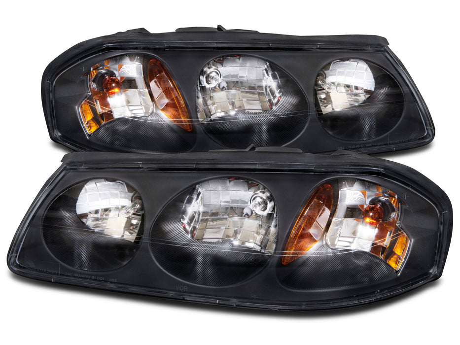 Headlights Set w/Xenon Bulbs Driver Left Passenger Right Pair Fits 2000-2004 Chevy Impala