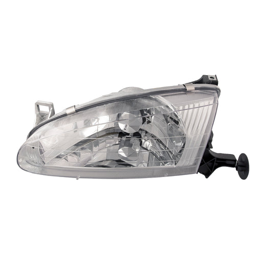 Headlight Halogen Driver Left Assembly Fits 1998-2002 Chevy Geo Prizm