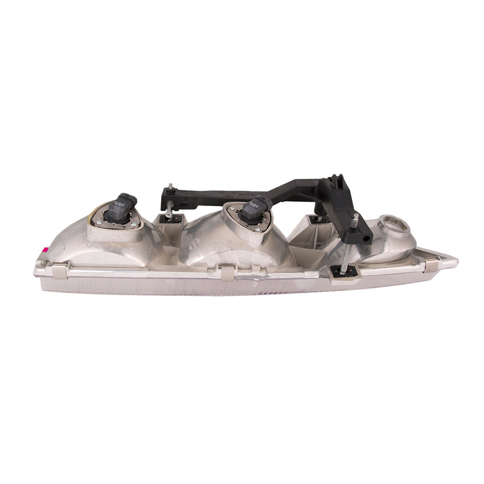 Headlights Depot Replacement Fits Headlights Set Left Driver Right Passenger Pair Assembly Fits 1996-1999 Saturn S-Series Sedan/Wagon