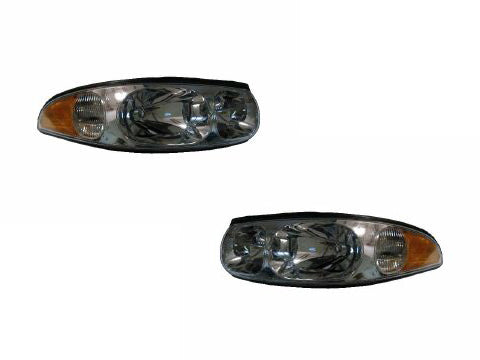 2000 Buick LeSabre Limited Smooth Lens Headlights Pair