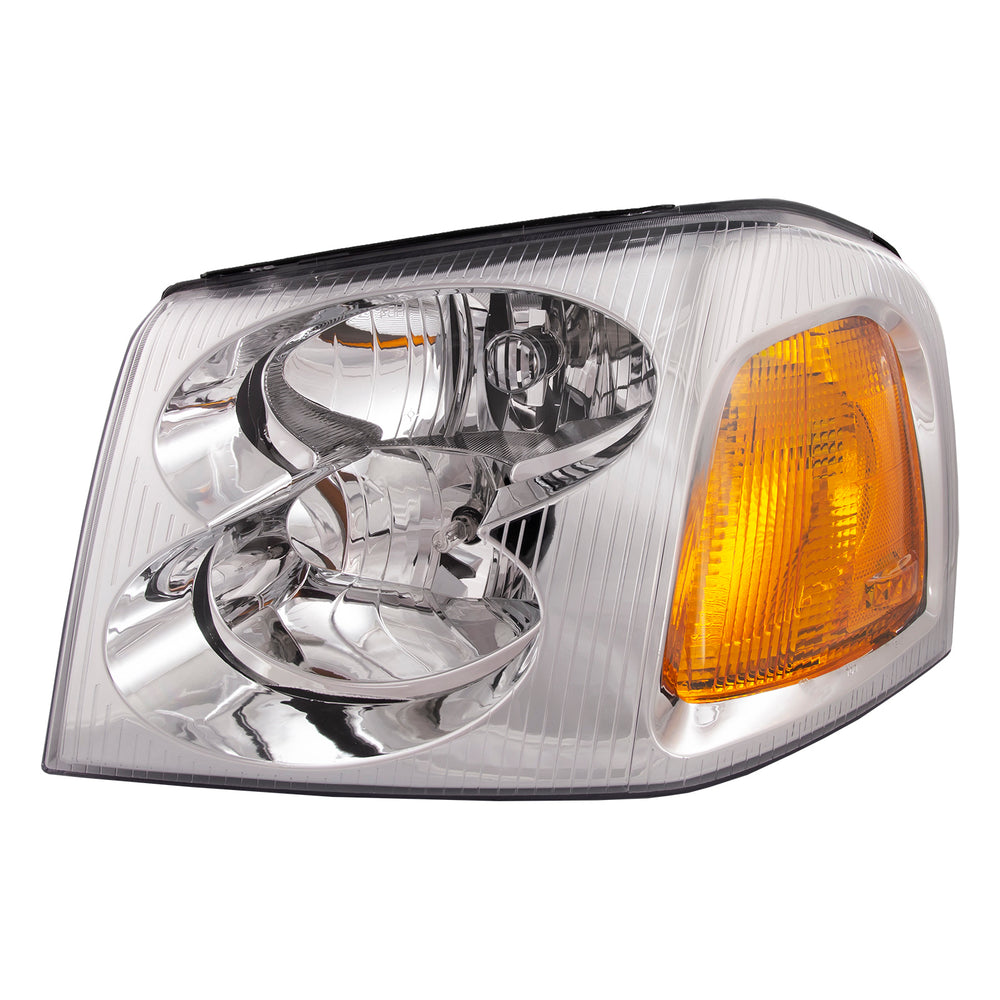 Headlight Chrome Halogen Left Driver Assembly Fits 2002-2009 GMC Envoy